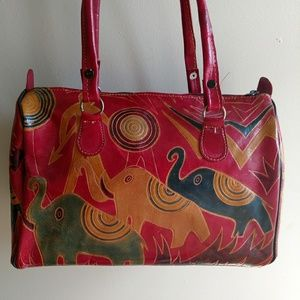 Vintage Leather Elephant Purse - Made In India